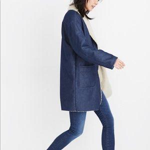 Madewell Sherpa-Bonded Denim Cocoon Coat